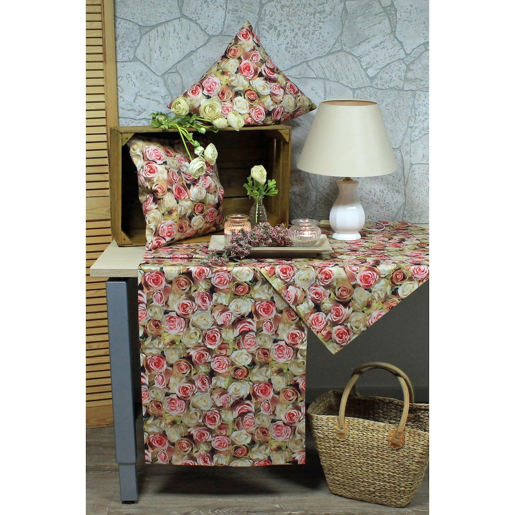 HOSSNER - HOMECOLLECTION Kissenhülle »32452 Roses«, (2 St.)