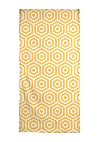 Juniqe Strandtuch »Yellow Beehive«, (1 St.), Weiche Frottee-Veloursqualität kaufen