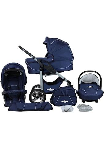bergsteiger Kombi-Kinderwagen »Capri, marine blue, 3in1«, 15 kg, Made in Europe kaufen