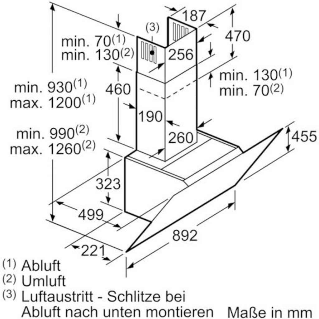 """SIEMENS Kopffreihaube »iQ500 """"LC98KPP60""""«"""