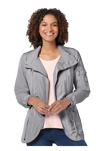 Casual Looks Jacke mit breitem Gummizug am Bündchen kaufen