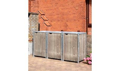 Hide Mülltonnenbox, für 3 x 240 l, grauxnatur kaufen