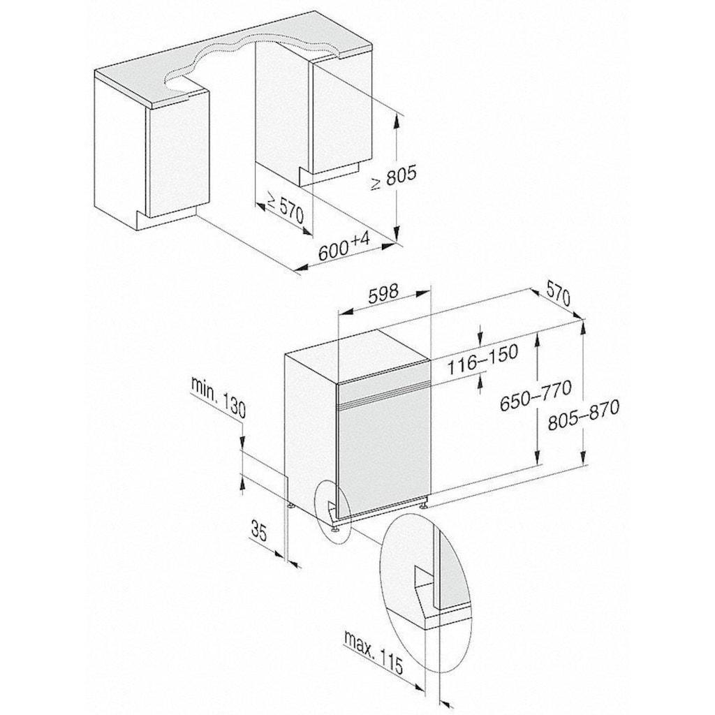 Miele teilintegrierbarer Geschirrspüler, G 5210 i Active Plus, 8,9 l, 13 Maßgedecke