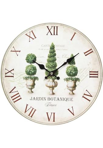 Ambiente Haus Wanduhr »Wanduhr - Plants 28cm« kaufen