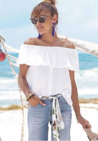 Buffalo Strandshirt, im Carmenstil mit Volant kaufen
