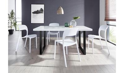 Paroli Essgruppe »Manger/Florian 140«, (Set, 5 tlg.), mit 4 Stühlen, Tisch Breite 140 cm kaufen