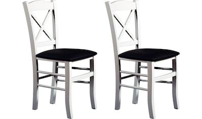 Home affaire Esszimmerstuhl »Clayton«, mit Gestell aus Massivholz im 2er-set kaufen