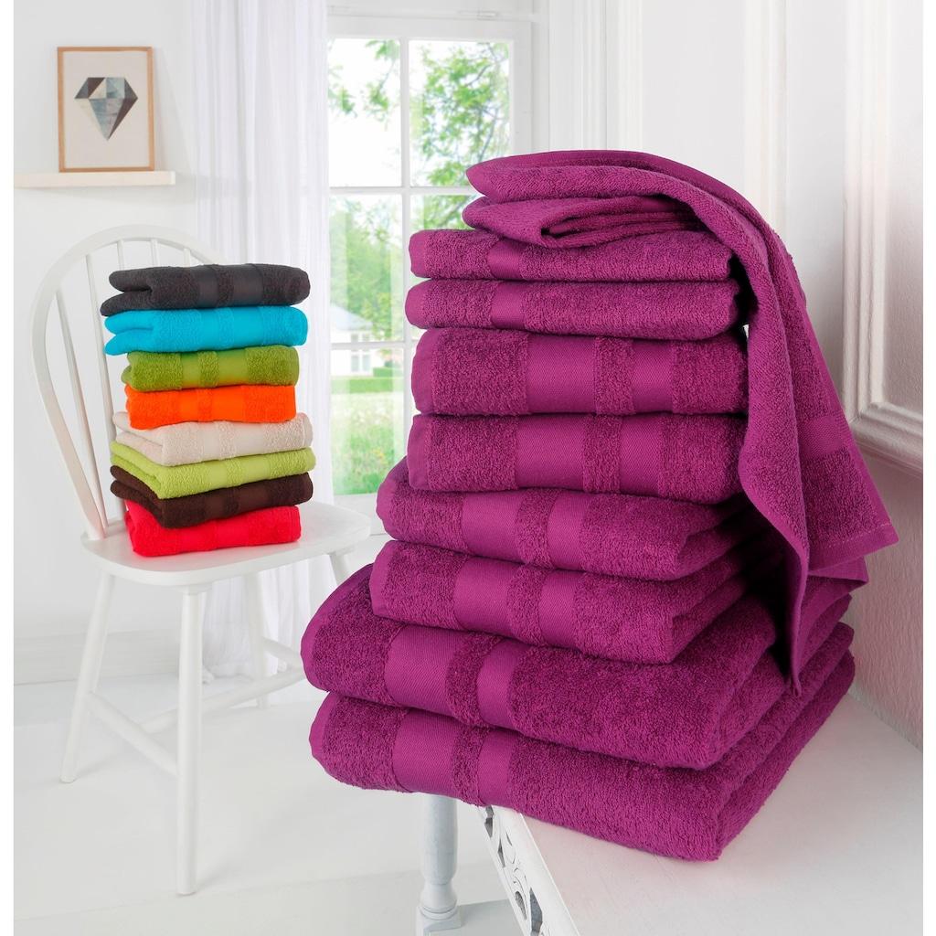 my home Handtuch Set »Ada«, mit abgesetzter Bordüre