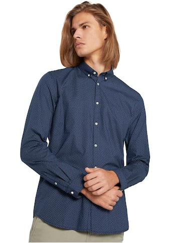 TOM TAILOR Denim Langarmhemd, Alloverprint kaufen