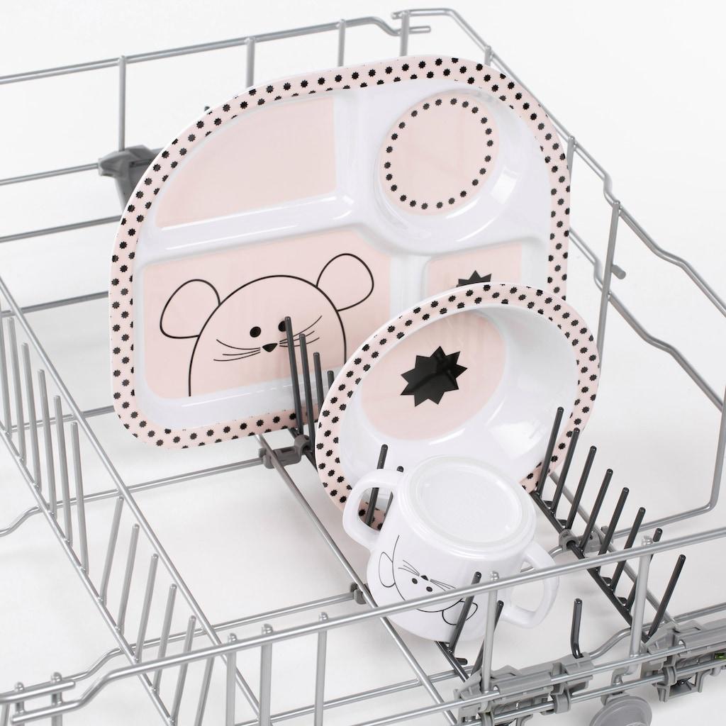 Lässig Kindergeschirr-Set »Little Chums, Mouse«, (4 tlg.)
