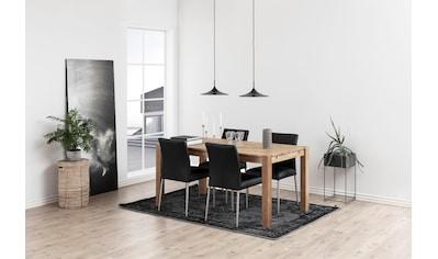 andas Esszimmerstuhl »Sina«, 2er Set, aus schönem, pflegeleichten Naturleder, Sitzhöhe 48,5 cm kaufen