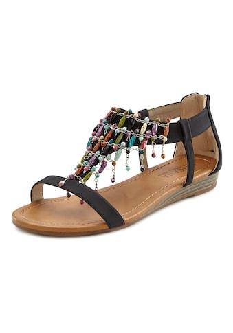 LASCANA Sandalette, mit kleinem Keilabsatz im Festival-Look kaufen