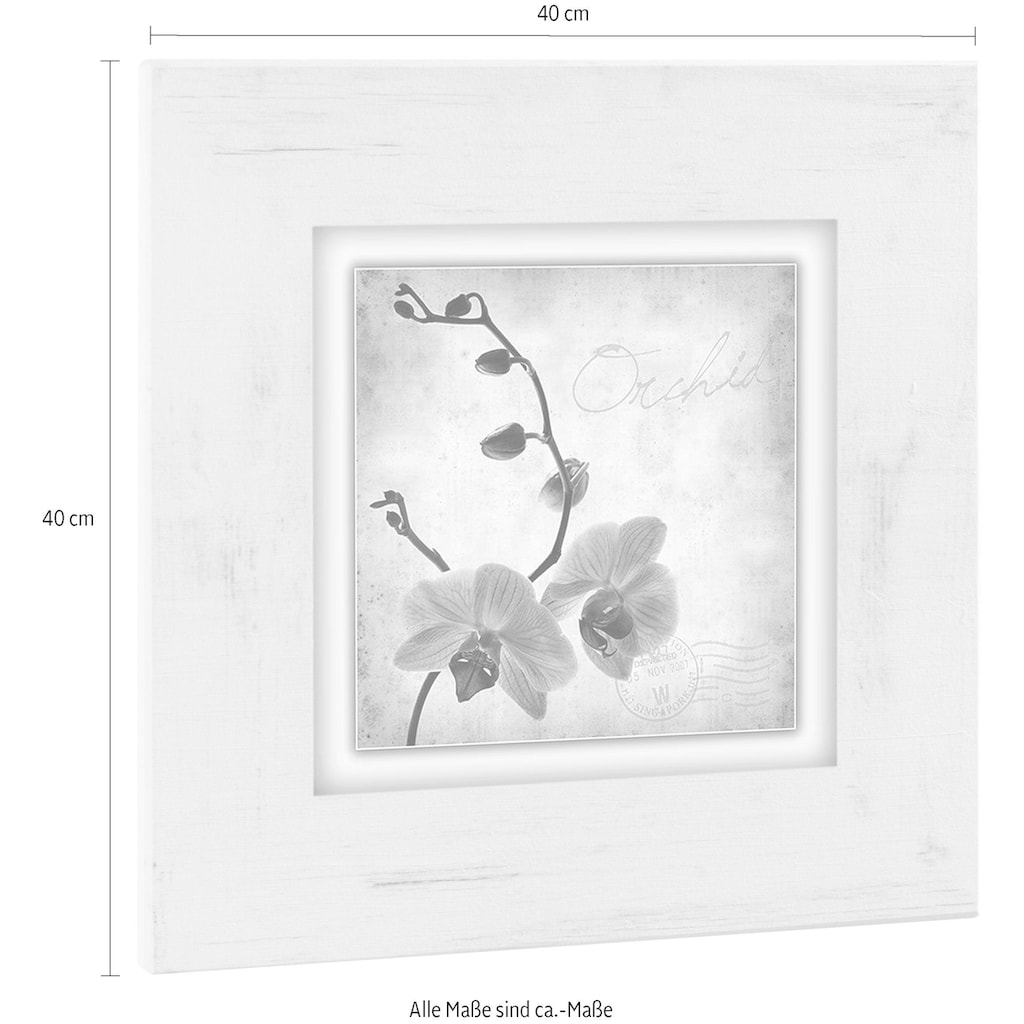 Home affaire Holzbild »Orchidee«, 40/40 cm