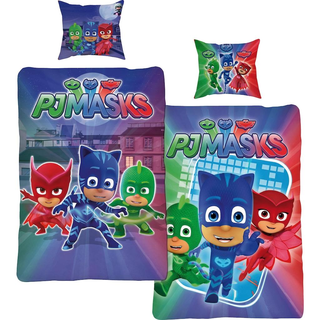 PJ Masks Wendebettwäsche »Attack«, mit drei kleinen Helden