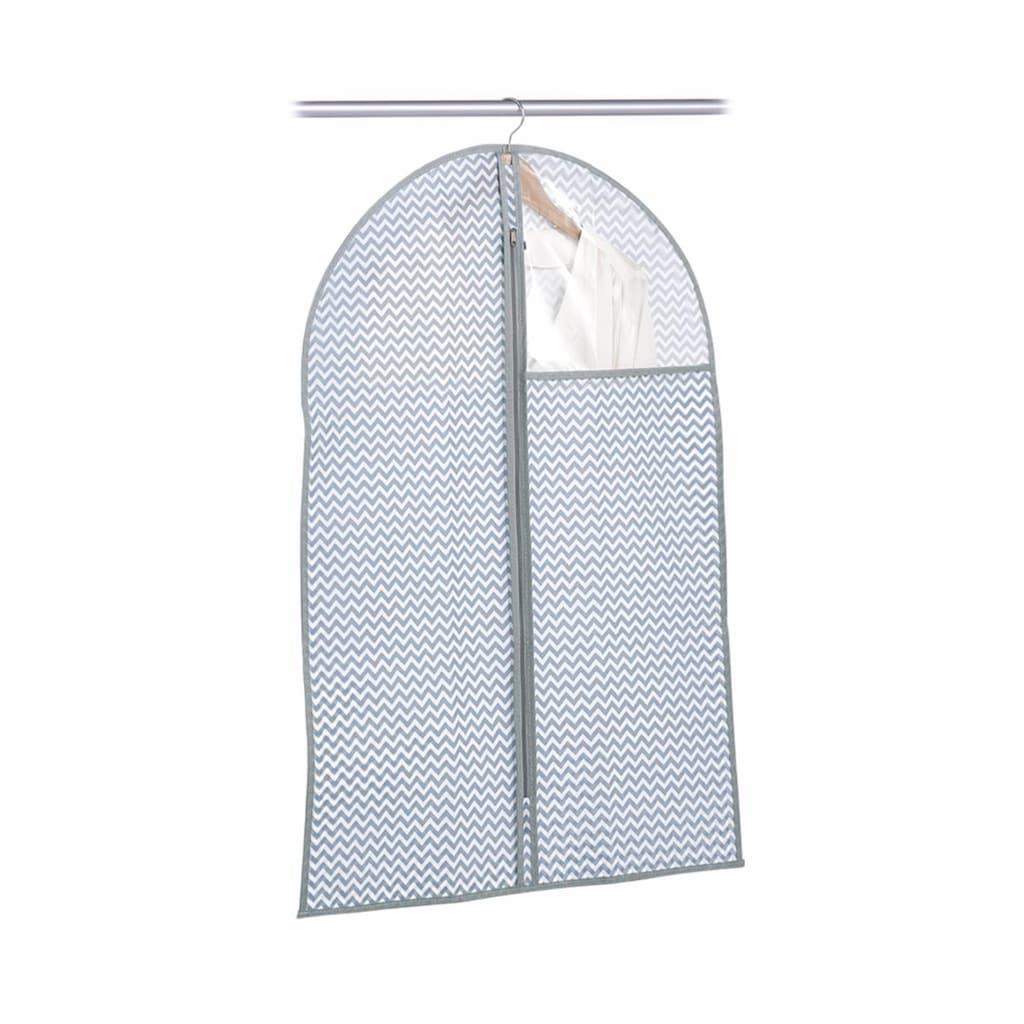 Zeller Present Kleiderschutzhülle, Vlies, weiß/grau