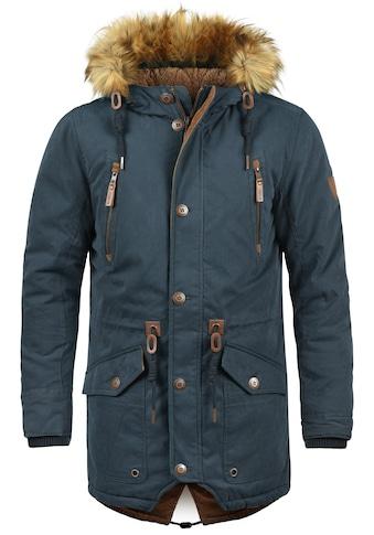 Solid Parka »Vidage«, warme Jacke mit abnehmbarem Kunstfellkragen kaufen