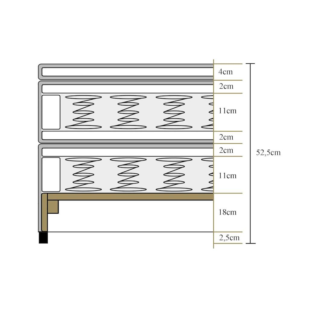 ATLANTIC home collection Boxspringbett, mit Topper und verstellbaren Nackenkissen