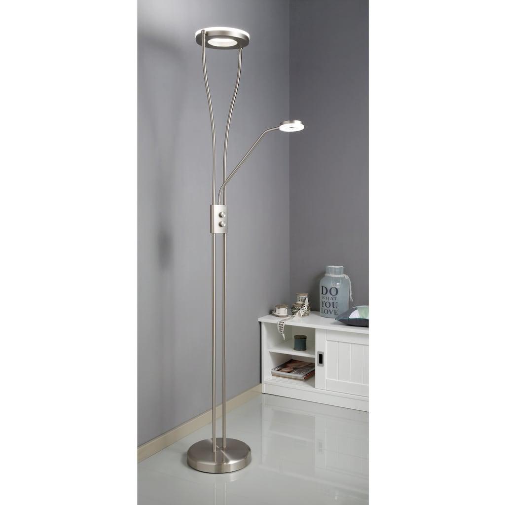 TRIO Leuchten LED Stehlampe »Rennes«, Schalter,Getrennt schaltbar,integrierter Dimmer