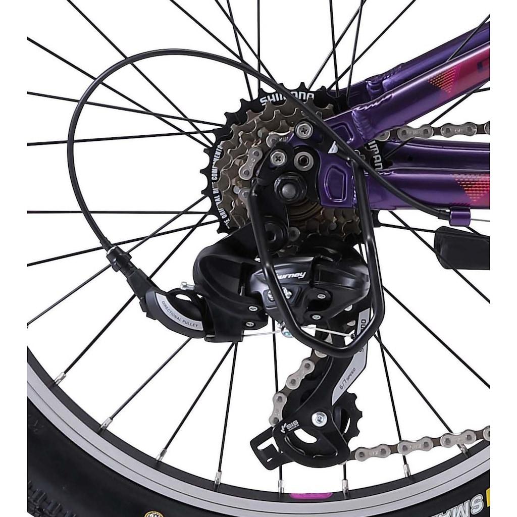 FUJI Bikes Mountainbike »Fuji Dynamite 20 2021«, 6 Gang, Shimano, Tourney Schaltwerk, Kettenschaltung
