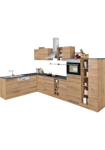 HELD MÖBEL Winkelküche »Colmar«, mit E-Geräten, Stellbreite 210/360 cm kaufen