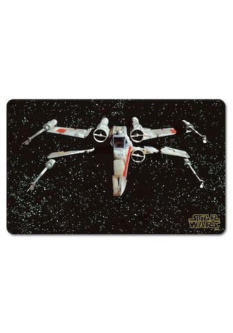 LOGOSHIRT Frühstücksbrettchen mit coolem X-Wing Fighter-Motiv kaufen