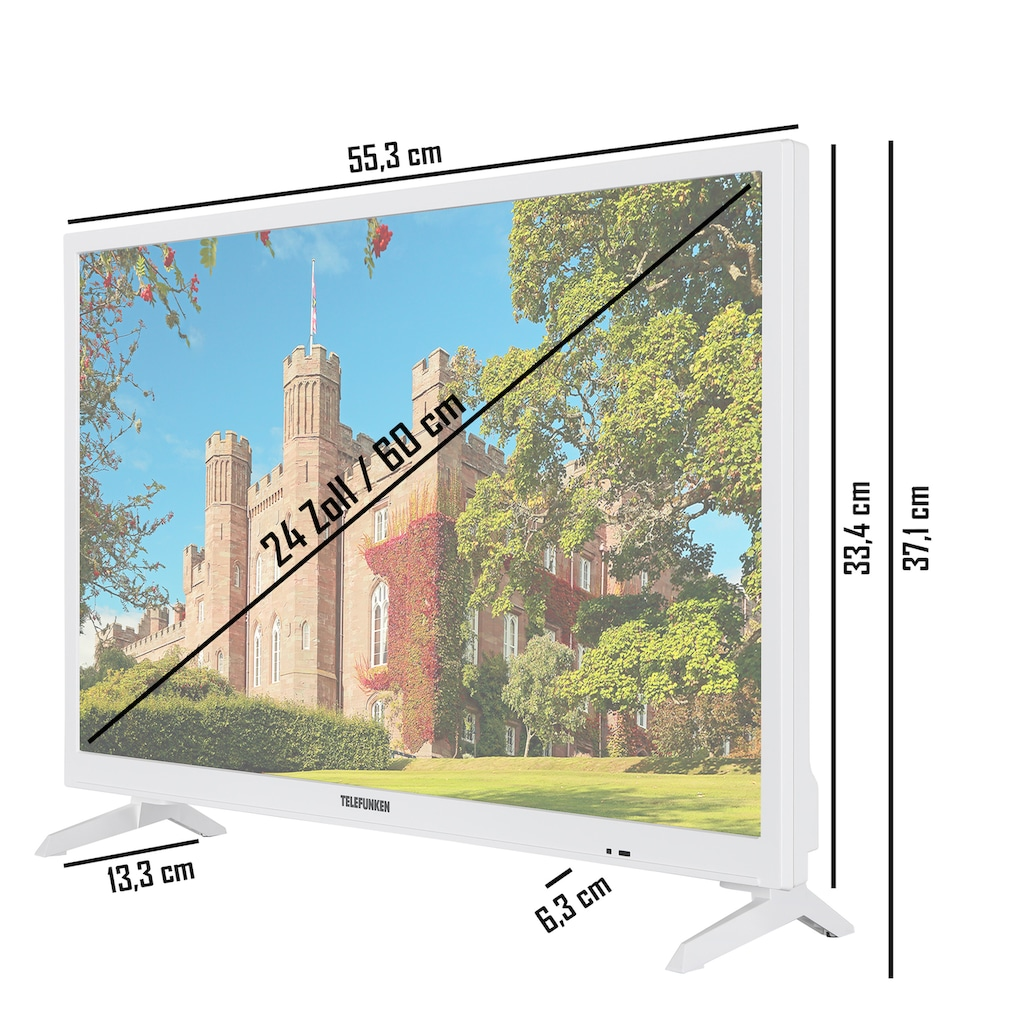 "Telefunken LED-Fernseher »XH24J101D-W«, 60 cm/24 "", HD-ready"
