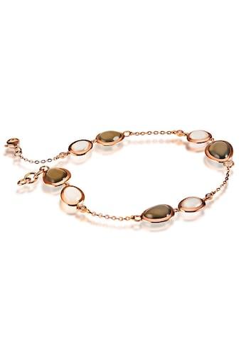 goldmaid Armband 585/- Rotgold 8 Mondsteine 4 Brill. 0,06 ct. kaufen