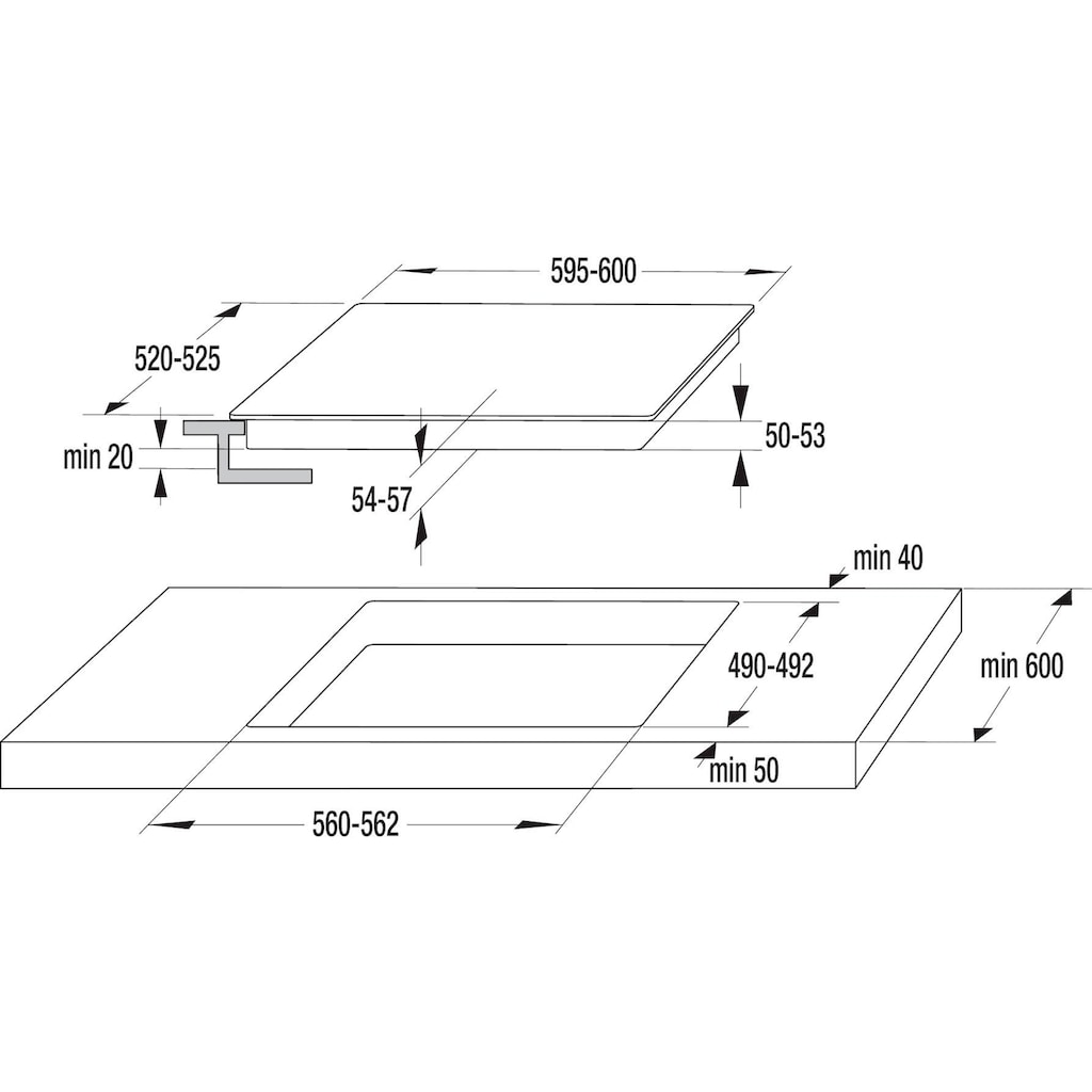 GORENJE Elektro-Herd-Set »Pacific Herd-Set Basic«, BC 735 XOT, mit 1-fach-Teleskopauszug, Großflächengrill