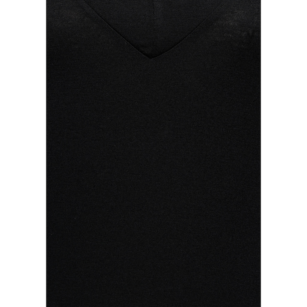 Melrose V-Shirt, schulterfrei mit Zierperlen