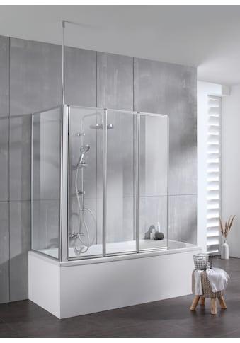 welltime Badewannenaufsatz »Summer 3-teilig + feste Seitewand«, Deckenhöhe bis 240cm... kaufen