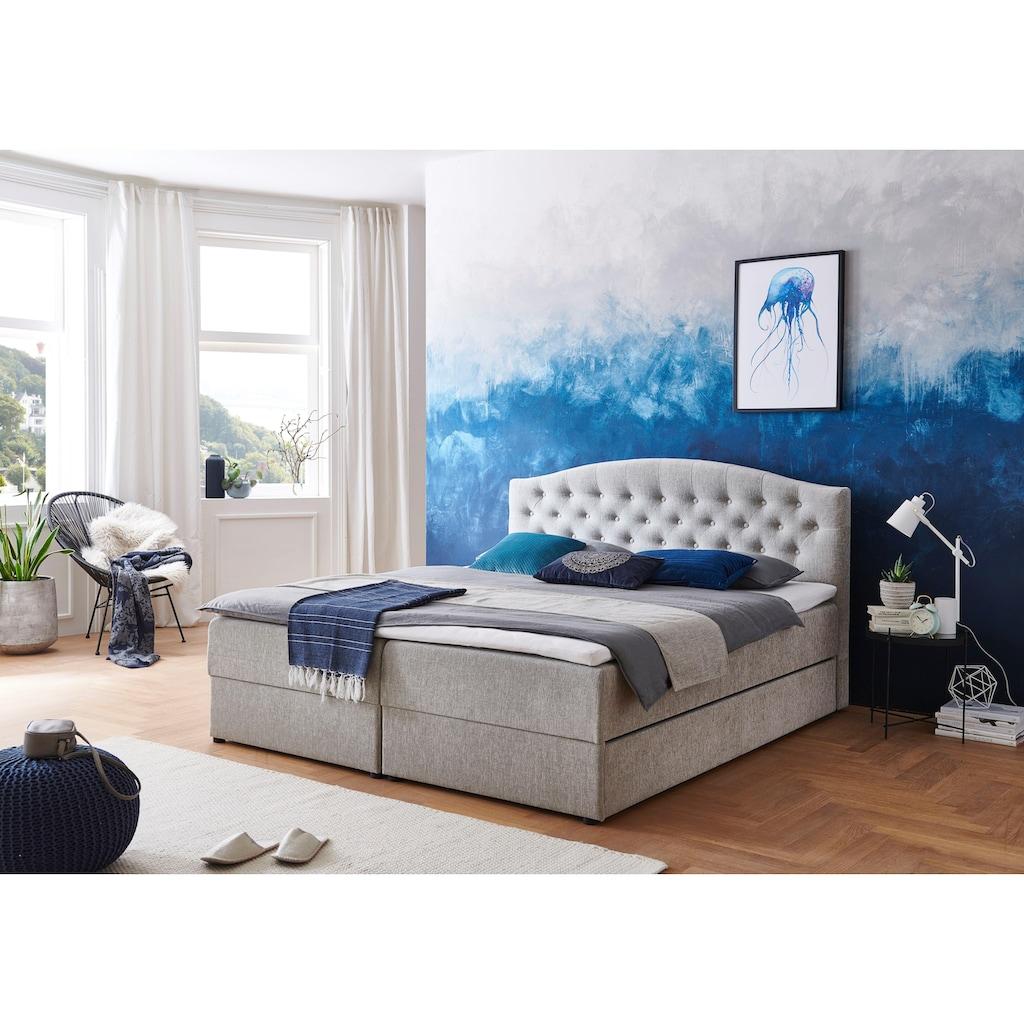 ATLANTIC home collection Boxspringbett, mit Topper, Bettkasten und Gästebett