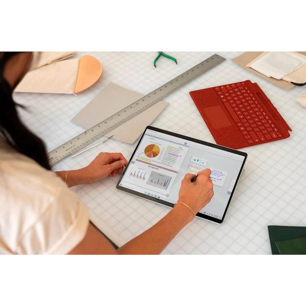 "Microsoft Convertible Notebook »Surface Pro X, 256/16GB Platin«, (33,02 cm/13 "" Qualcomm SQ 1 Adreno 685 GPU\r\n 256 GB SSD)"