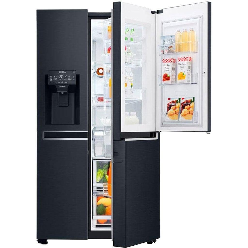 LG Side-by-Side »GSX961MCVZ«, 9, GSX961MCVZ, 179 cm hoch, 91,2 cm breit, Door-in-Door