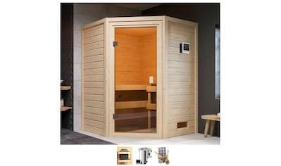 Karibu Sauna »Anni«, 3,6-kW-Bio-Plug & Play Ofen mit ext. Steuerung kaufen