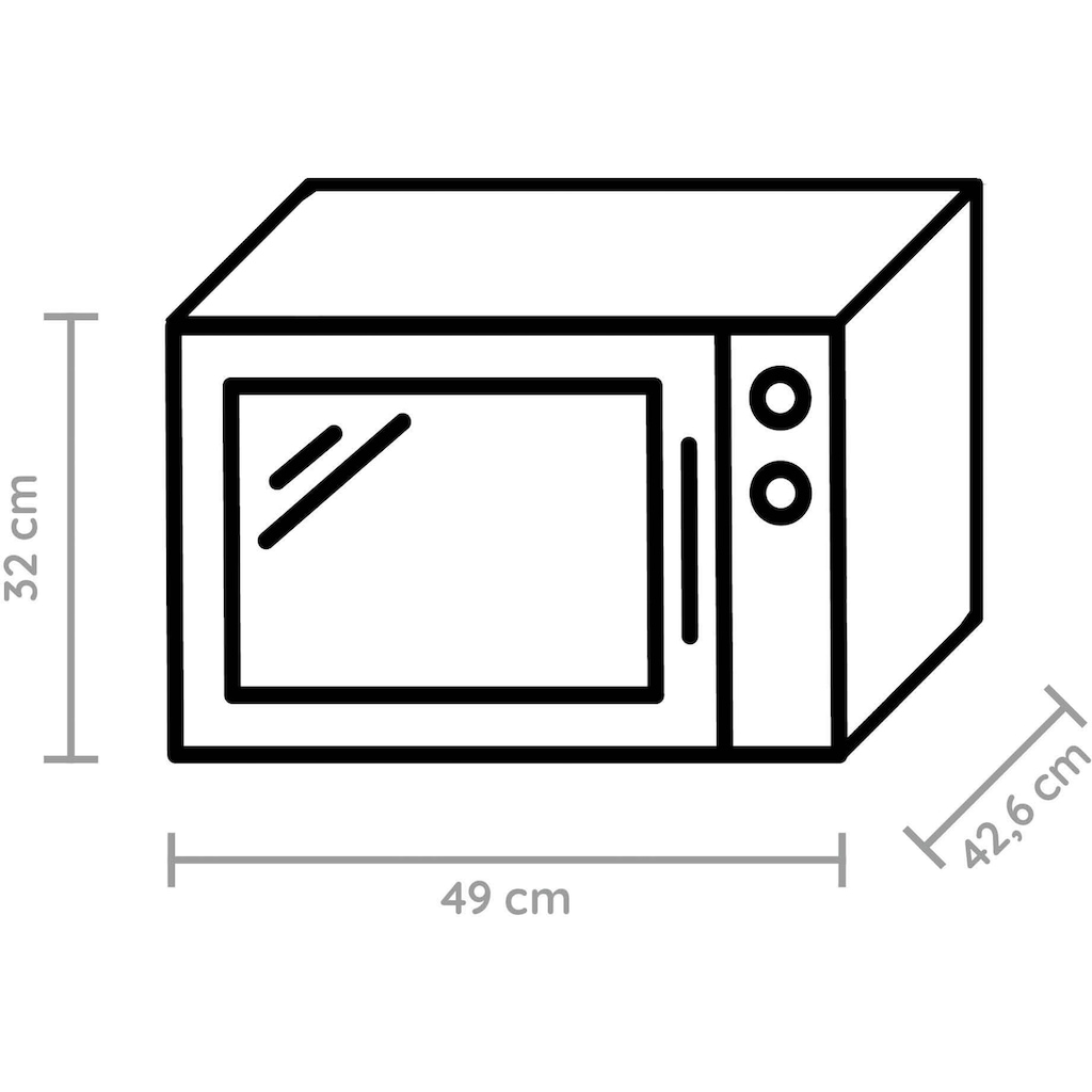 BAUKNECHT Mikrowelle »MW 427 SL«, Grill, 900 W