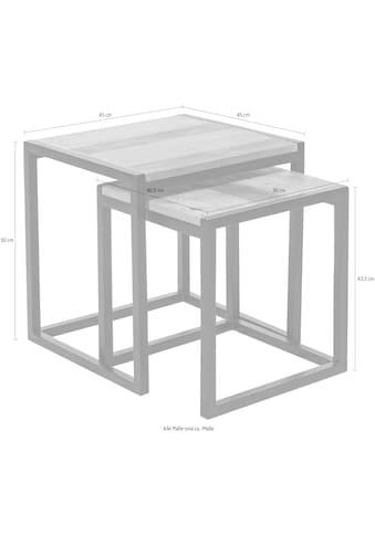 SIT Satztisch »Old Pine«, (Set, 2 St.), aus recyceltem Pinienholz, Beistelltische 2er-Set kaufen