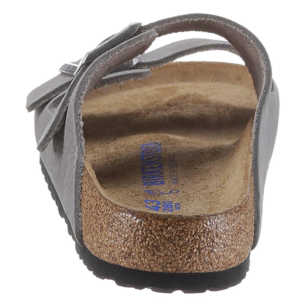 Birkenstock Pantolette »Arizona Tumbled«, aus softem Nubukleder