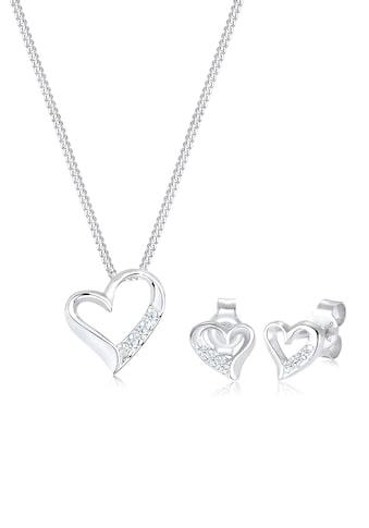 Diamore Schmuckset »Herz Liebe Diamant (0.12 ct.) 925 Silber« kaufen