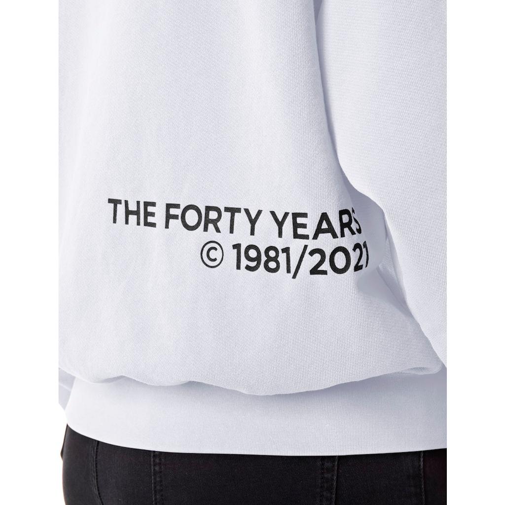 Replay Sweatshirt, mit lässig überschnittenen Schultern