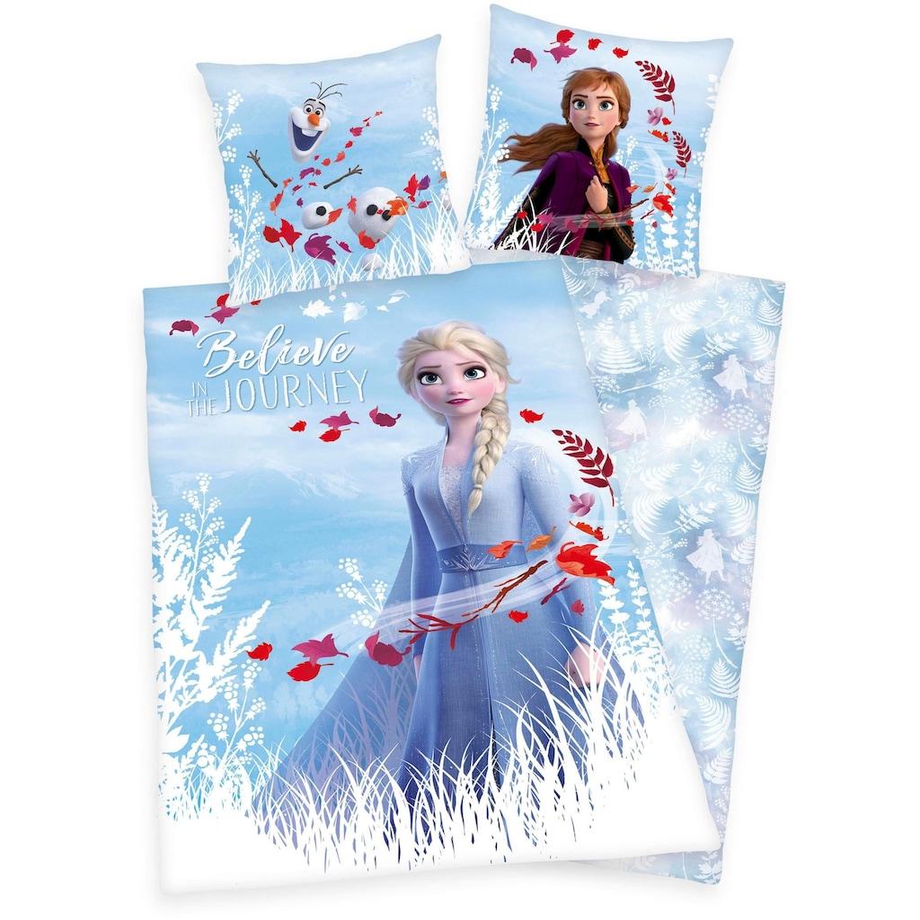 Disney Kinderbettwäsche »Disney´s Eiskönigin 2«, mit Elsa, Anna und Olaf