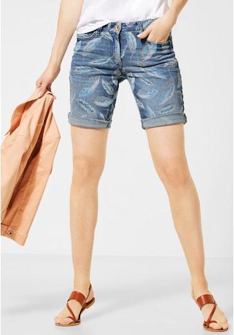 Cecil Loose-fit-Jeans, mit Blätterprint kaufen