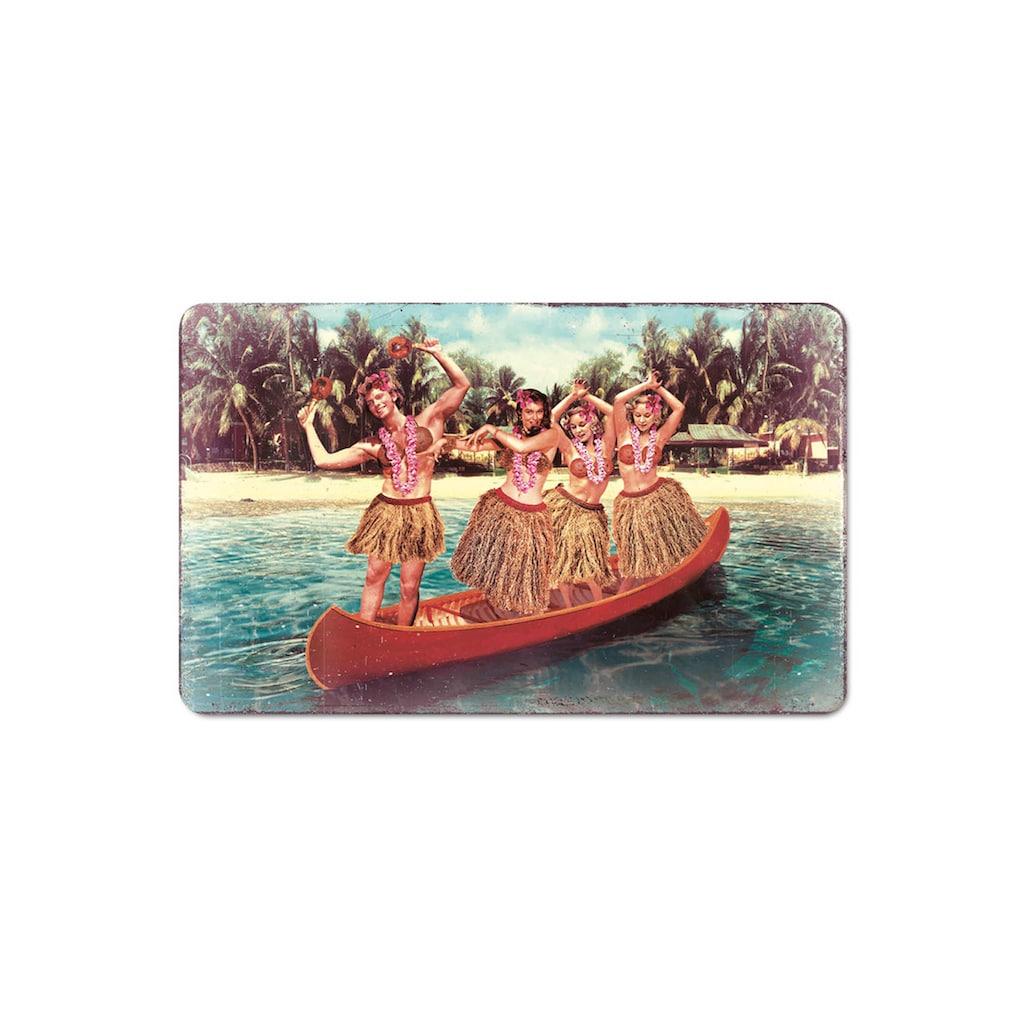 LOGOSHIRT Frühstücksbrettchen mit Hula-Tänzerinnen