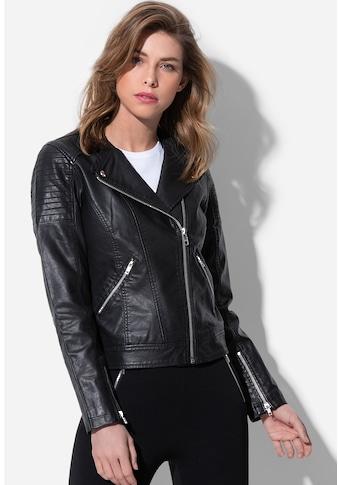 Stedman Lederimitatjacke »Road Jacket«, im rockigen Design kaufen
