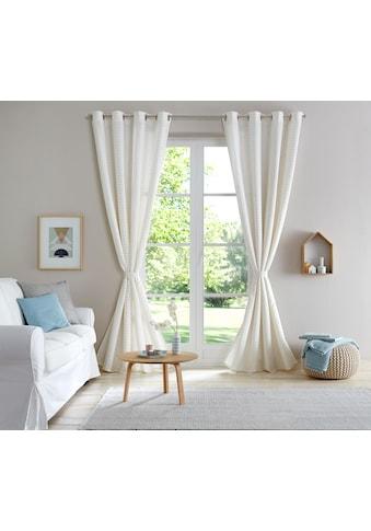 Home affaire Vorhang »Ronja«, blickdicht, leicht glänzend, mit Wellenmuster, inkl.... kaufen