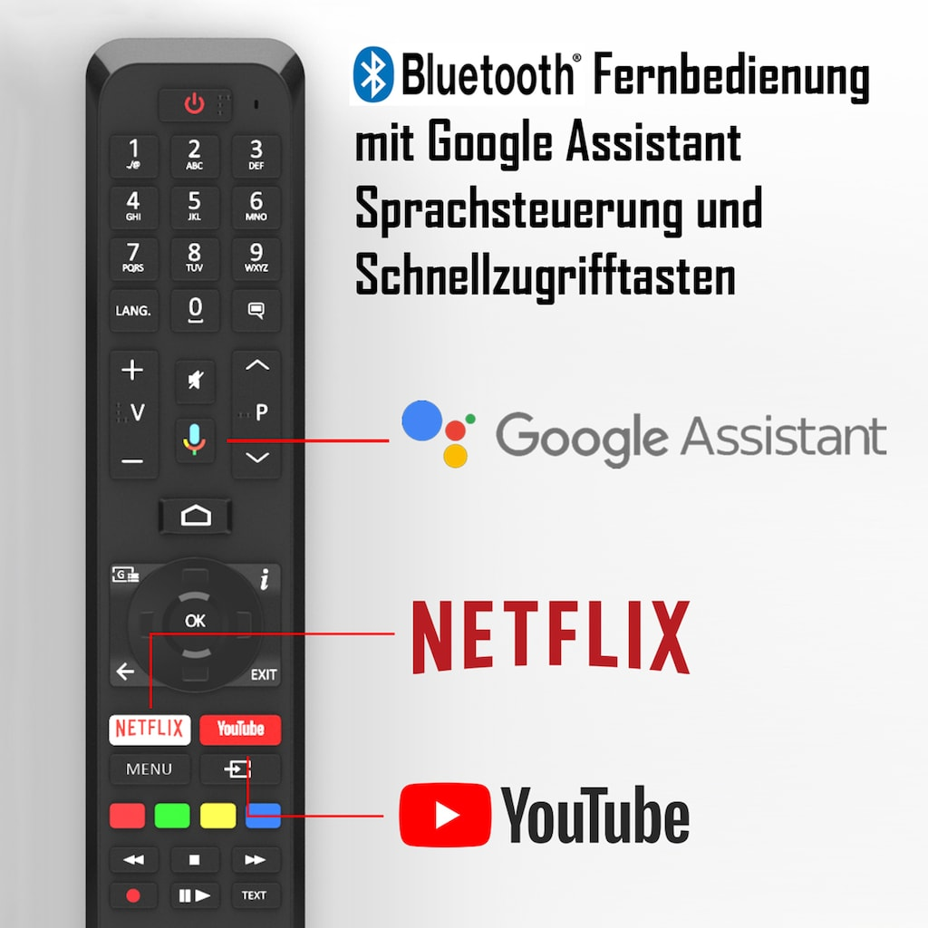 "Telefunken LED-Fernseher »XU55AJ600«, 139 cm/55 "", 4K Ultra HD, Google TV-Smart-TV-Android TV"