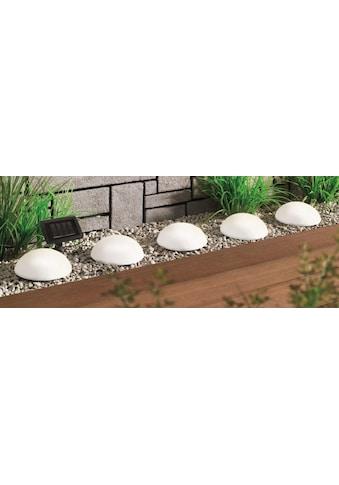 BONETTI LED Gartenleuchte »Solar Halbkugeln - 5er-Set«, LED-Board, Warmweiß, mit separatem Solarpanel kaufen