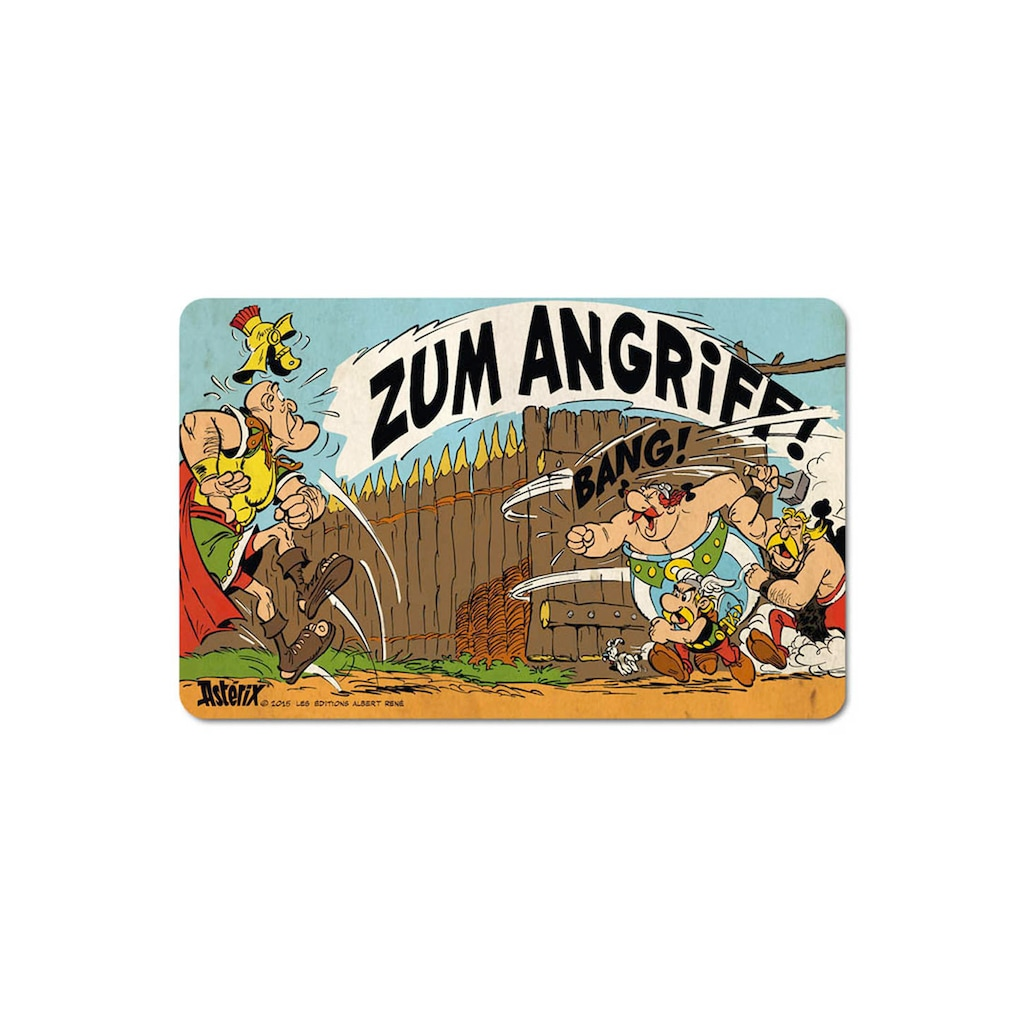 LOGOSHIRT Frühstücksbrettchen mit Asterix & Obelix-Motiv