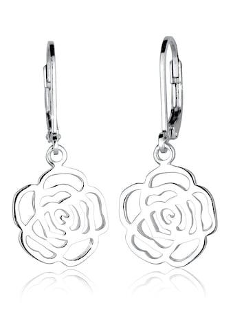Elli Paar Ohrhänger »Rose Blume Blütenform Romantisch Filigran Silber« kaufen