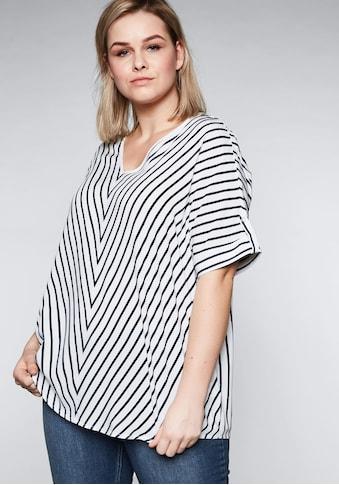 Sheego Tunika, in Oversize-Form mit Streifen kaufen