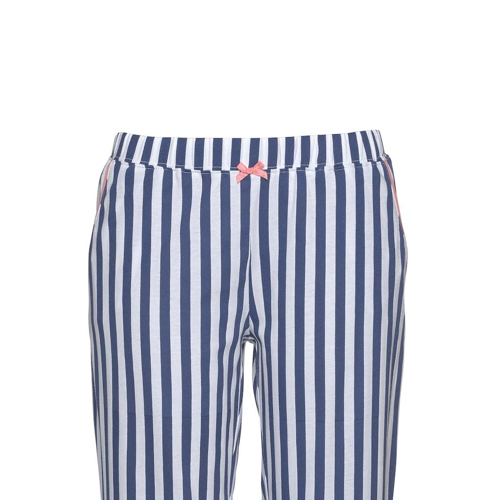 H.I.S Pyjama, in klassischem Schnitt mit Streifenmuster
